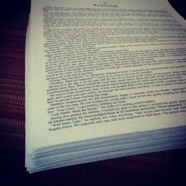 Of course, printing out my novels makes my printer weep.